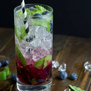 Blueberry Mojito Cocktail.