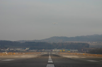 Photo: A Jumbolino started just before us from runway 28 http://www.swiss-flight.net