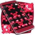 Pink Neon Skulls Theme icon