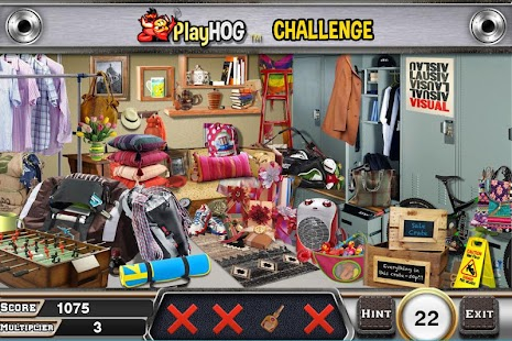 Challenge #204 Locker room New Free Hidden Objects - náhled