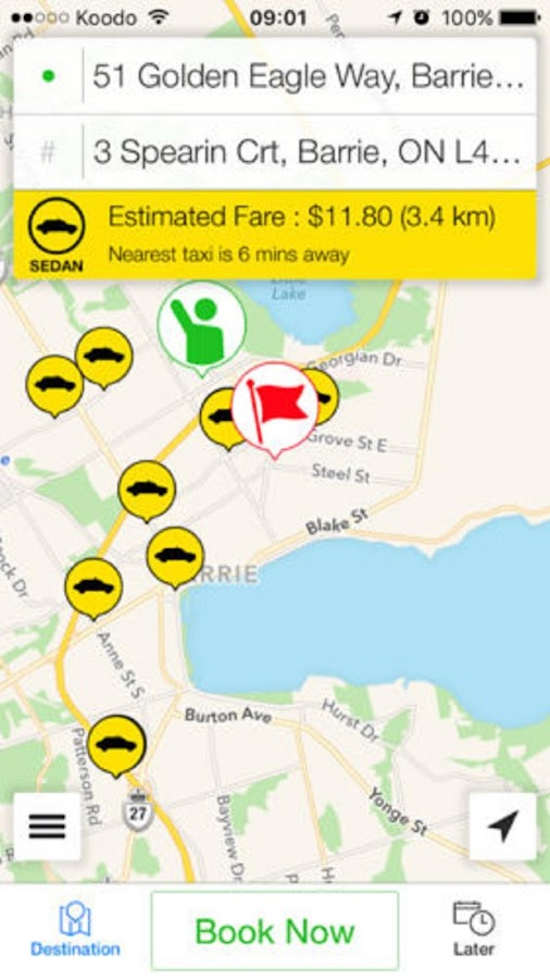 Barrie Taxi- screenshot