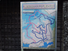 龍仙山ハイク案内図