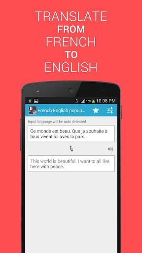 Translate French English paid