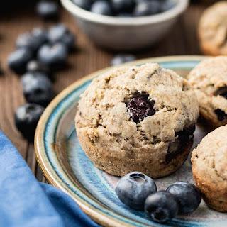 Zesty Ginger Blueberry Muffins (Gluten-free, Vegan).
