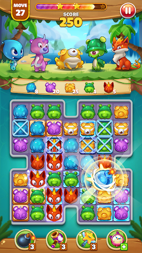 Pekoblast Master - Match 3 Pet Blast  screenshots 1