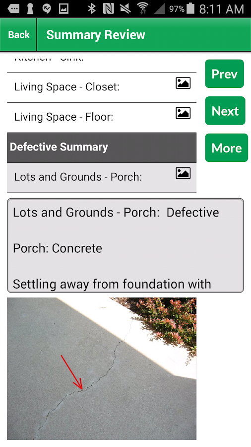 Palm-Tech Home Inspection Software- screenshot