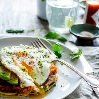 Sweet Potato Pinto Bean Open-Face Breakfast Tacos Recipe