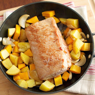 Maple Glazed Pork Roast with Root Vegetables