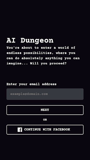 AI Dungeon 1.1.32 screenshots 1