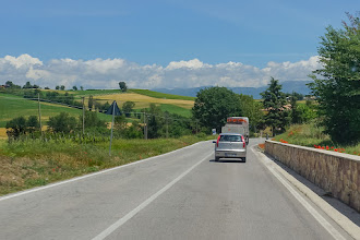 Photo: On the road to lunch at Camiano Piccolo