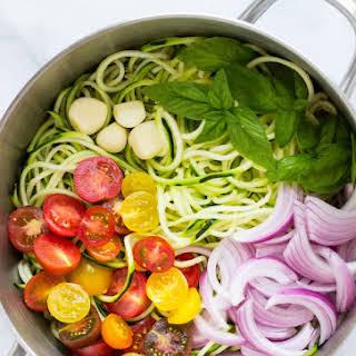 One Pot Zucchini Pasta.