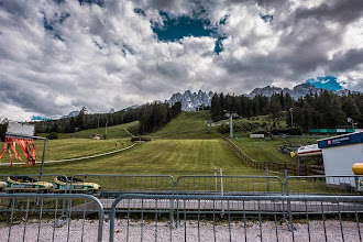 Photo: Town of San Candido in the Dolomites | http://blog.kait.us/2014/06/hiking-dolomites.html