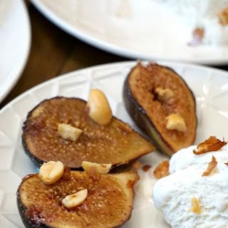 Spiced Roasted Figs with Hazelnuts and Vanilla Ice Cream Recipe