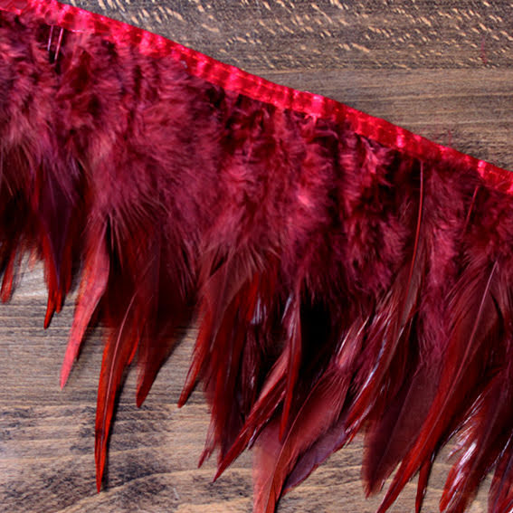 Fjäderband - tupp, 14cm, röd