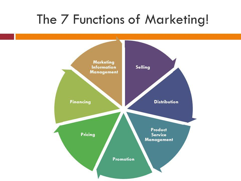 The 7 Functions of Marketing