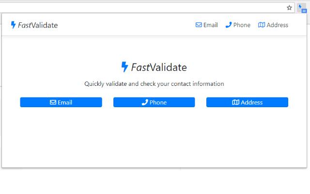 FastValidate Chrome Extension
