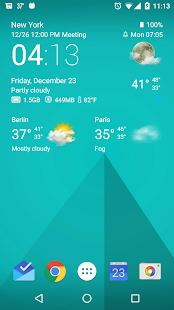 Transparent clock & weather Screenshot 10