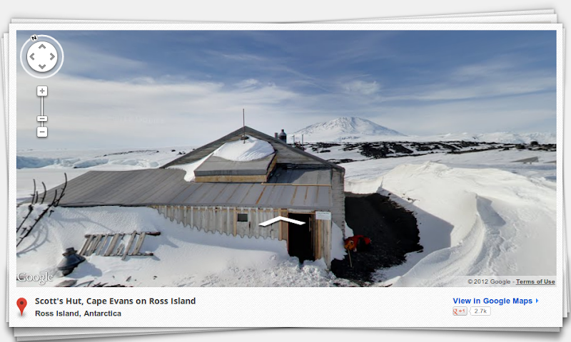 "Photo: Not my Pix! Up over on Google (http://goo.gl/lBCDL) they are actually showing ""Street View"" pictures of the South Pole. I wonder if they used a dog sled or snowmobile to mount their camera rig on? ;-)"