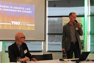 Photo: Dr Frank Thomsen, Workshop Chair, Chair WODA Expert Group Underwater Sound, Senior Marine Scientist, DHI Denmark  Dr Christ de Jong, WODA Expert Group Underwater Sound, Senior Scientist, Netherlands Organisation of Applied Science (TNO), the Netherlands