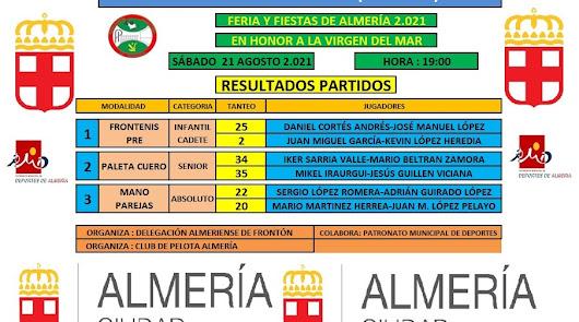 El frontón cumple 126 Ferias de Almería