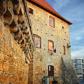 Tailor's Bastion by Eduard Moise - Buildings & Architecture Other Exteriors ( orange, old, tower, details, dramatic, bricks, rust, bastion, aged )