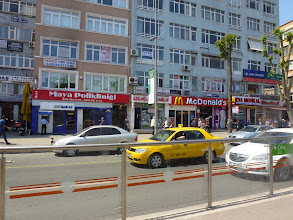 Photo: view from the street tram through newer district of Istanbul