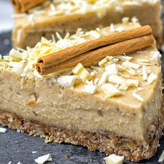 Cinnamon White Chocolate Cheesecake [Vegan, Gluten-Free]