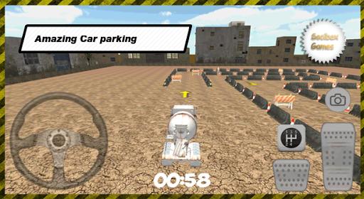 3Dトラック駐車場セメント