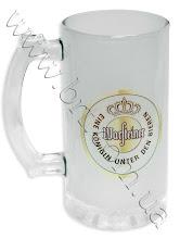 Photo: Пивная кружка с логотипом немецкого пива WARSTEINER. Матовое стекло, сублимационная термопечать