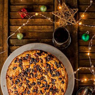 Eggless Christmas Rum Fruit Cake.