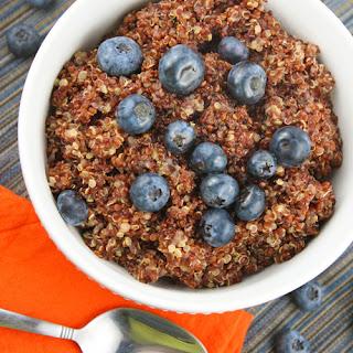 Breakfast Quinoa with Blueberries.
