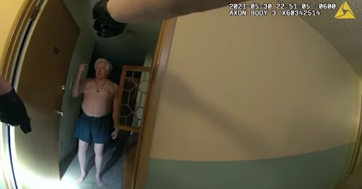 Body Cam Video Shows Colorado Police Officer Tasing Unarmed, Unclothed 75-Year-Old Man in His Apartment Before Moving a Weapon into the Hallway
