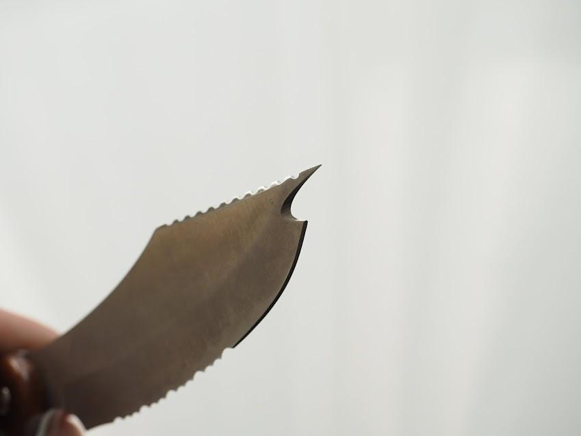 サカナイフはさびにくいH-1鋼を使用