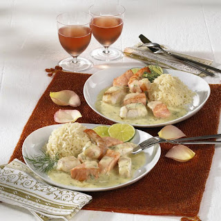 Creamy Fish Stew and Rice