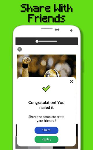 American Football Player Color By Number - Pixel apktram screenshots 7