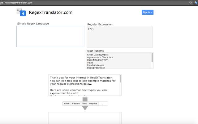 RegExTranslator: Decode RegEx in your browser