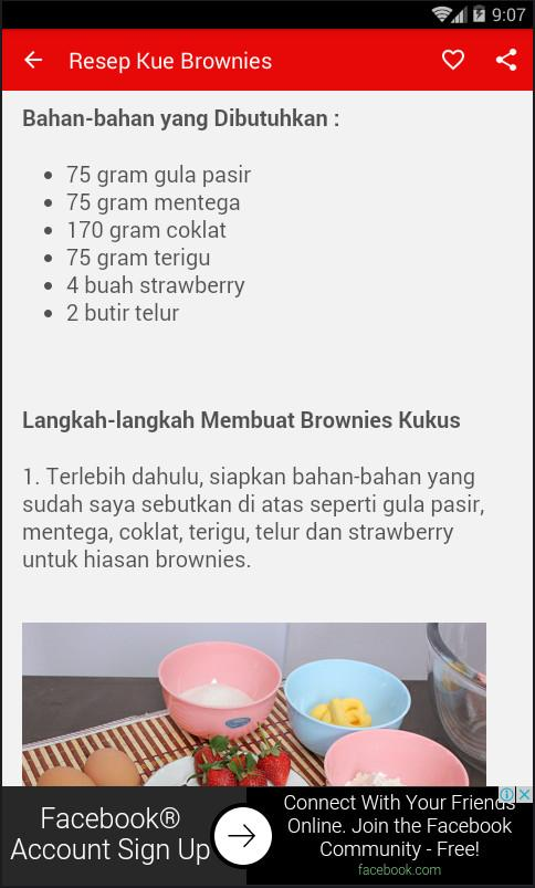 Resep Kue Brownies Kukus- screenshot
