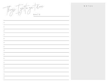To Do List Script - Planner template
