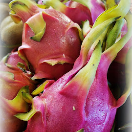 Pink shades.. by Val Brill - Food & Drink Fruits & Vegetables ( tropical, strange shape, pink, fruit, sweet )