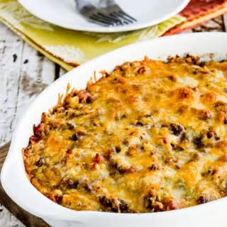 Cheesy Low-Carb Taco Casserole.