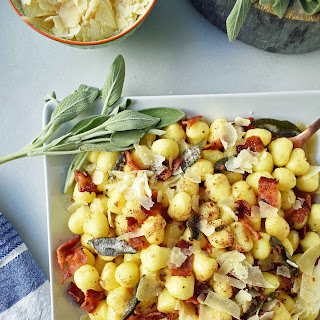Gnocchi with Brown Butter, Crispy Pancetta, and Sage.