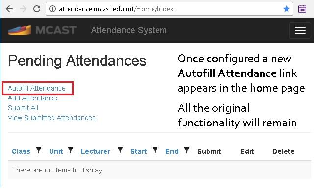 MCAST Attendance Helper