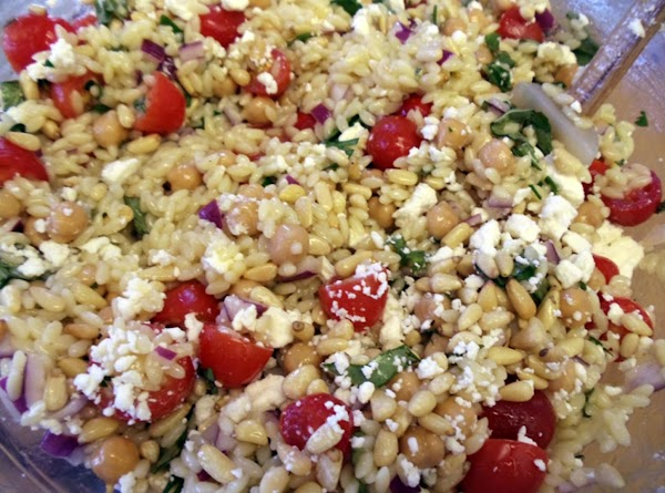 Season the salad to taste with salt and pepper. Serve at room temp. Add...