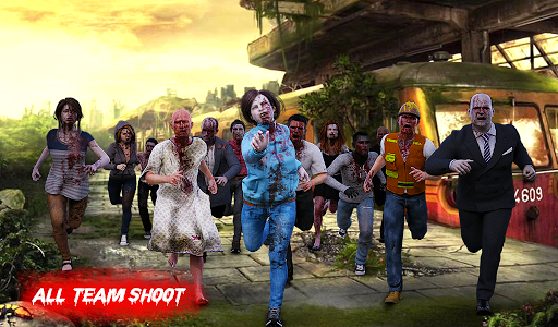 Zombie War Shooting - Commando Zombie Shooter Game 3 screenshots 9