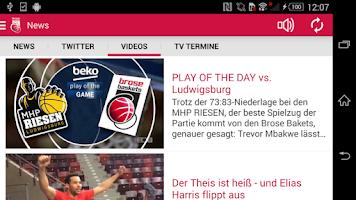 Screenshot of Brose Baskets