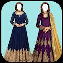 Women New  Anarkali  Dress Photo  Montage icon