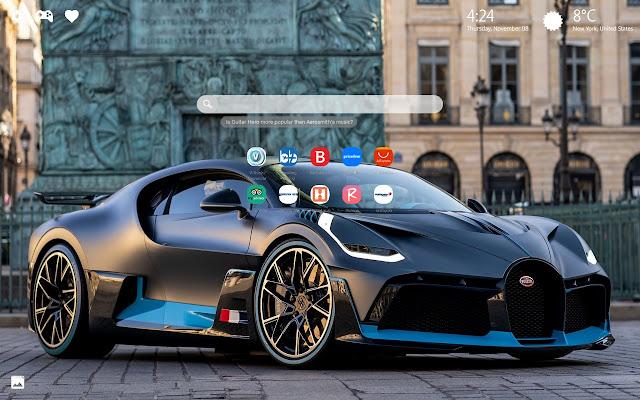 Bugatti Super Car Wallpaper HD New Tab Theme
