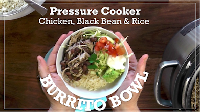 Photo: http://www.hippressurecooking.com/pressure-cooker-chicken-burrito-bowl/
