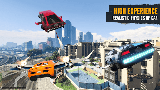Flying Car Shooting Game: Modern Car Games 2020 apkmr screenshots 4