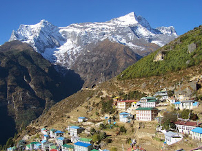 Photo: Namche Bazar et le Kwande